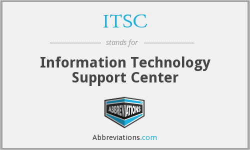 ITSC - Information Technology Support Center