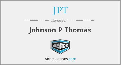 JPT - Johnson P Thomas
