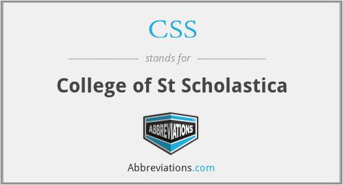 CSS - College of St Scholastica