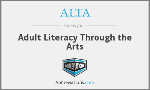 ALTA - Adult Literacy Through the Arts