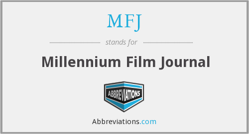 MFJ - Millennium Film Journal
