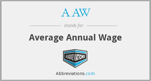 AAW - Average Annual Wage