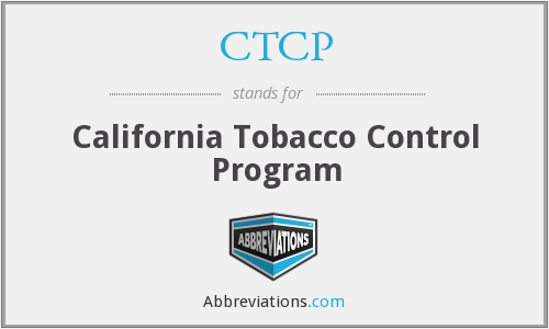 CTCP - California Tobacco Control Program