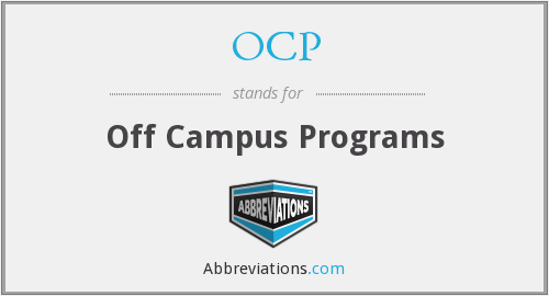 OCP - Off Campus Programs