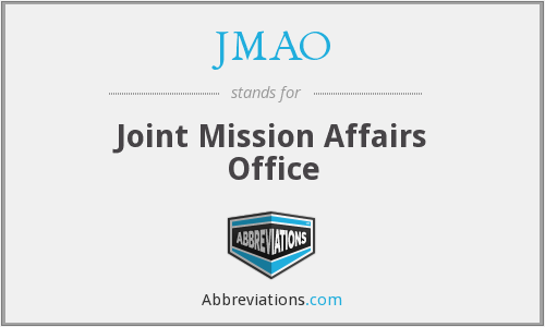 What does JMAO stand for?