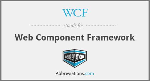 WCF - Web Component Framework