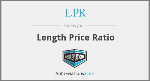 LPR - Length Price Ratio