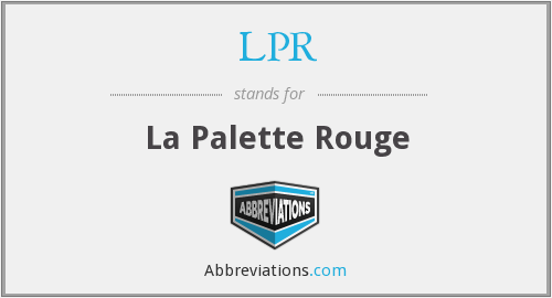 What does LPR stand for?
