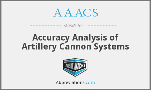 AAACS - Accuracy Analysis of Artillery Cannon Systems