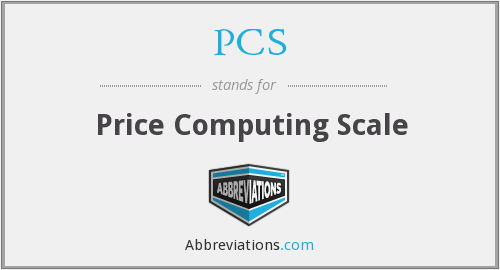 PCS - Price Computing Scale