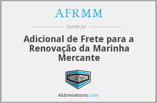 What does AFRMM stand for?