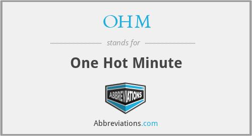 OHM - One Hot Minute