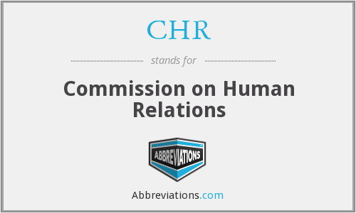 CHR - Commission on Human Relations
