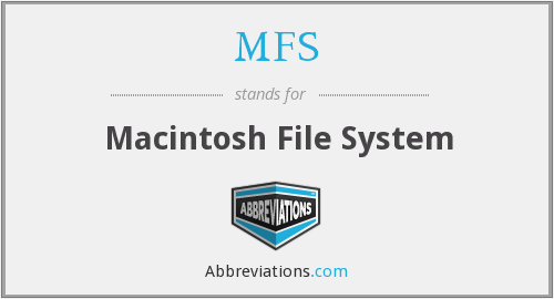 MFS - Macintosh File System