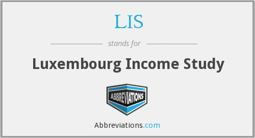 LIS - Luxembourg Income Study