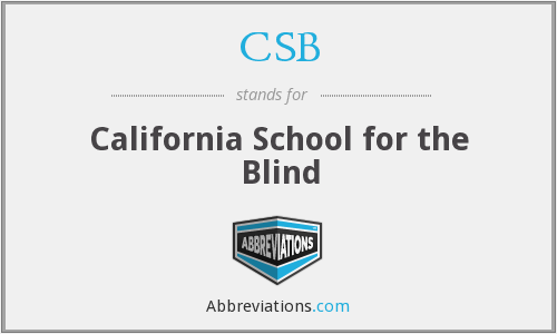 What does CSB stand for?