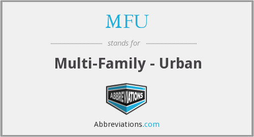 MFU - Multi-Family - Urban