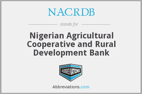 What does NACRDB stand for?