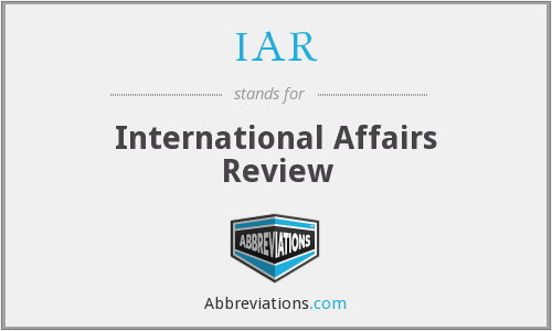 IAR - International Affairs Review
