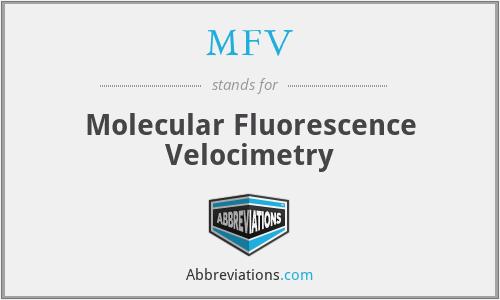 MFV - Molecular Fluorescence Velocimetry