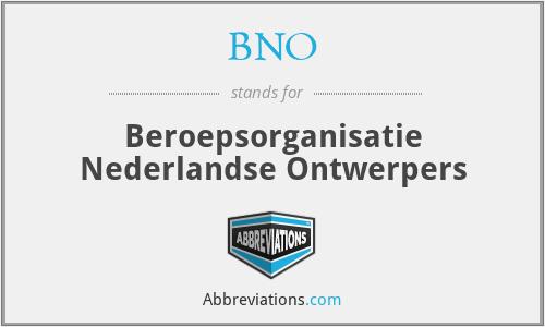 BNO - Beroepsorganisatie Nederlandse Ontwerpers