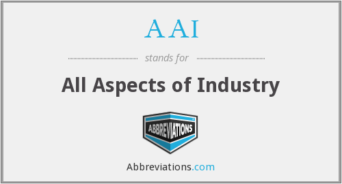 AAI - All Aspects of Industry