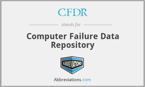 CFDR - Computer Failure Data Repository