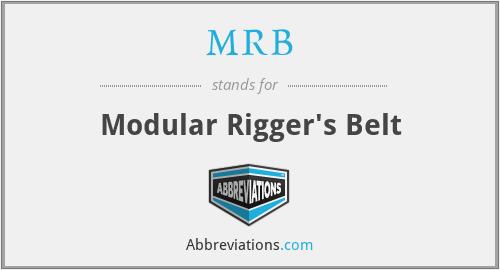 MRB - Modular Rigger's Belt