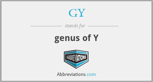 GY - genus of Y