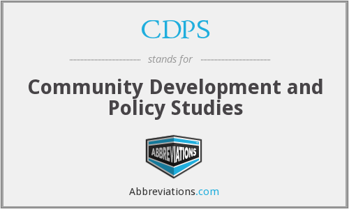 CDPS - Community Development and Policy Studies
