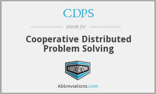 CDPS - Cooperative Distributed Problem Solving