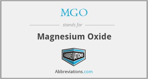 MGO - Magnesium Oxide