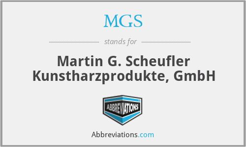 MGS - Martin G. Scheufler Kunstharzprodukte, GmbH