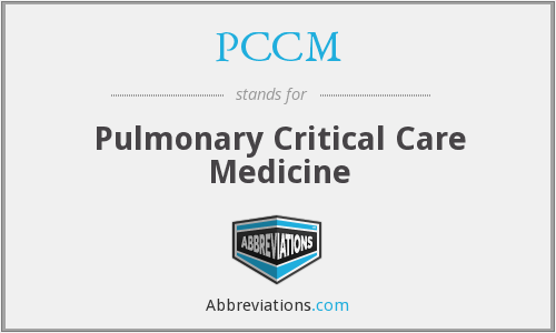 PCCM - Pulmonary Critical Care Medicine