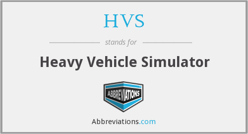 HVS - Heavy Vehicle Simulator