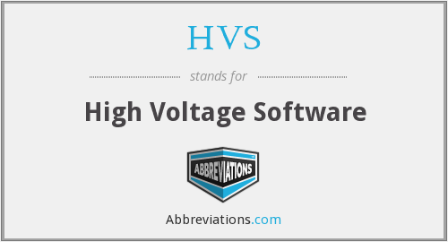 HVS - High Voltage Software