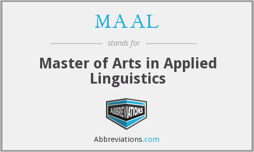 What does MAAL stand for?