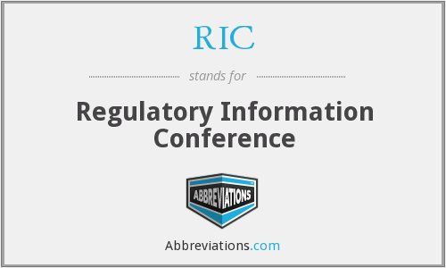 RIC - Regulatory Information Conference