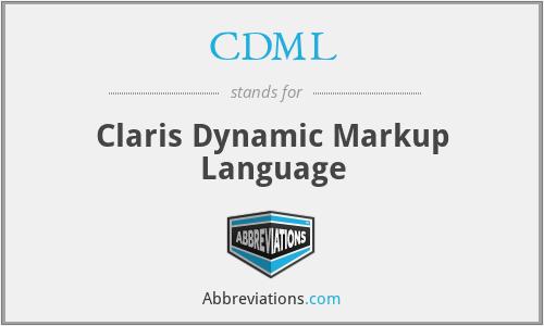 CDML - Claris Dynamic Markup Language