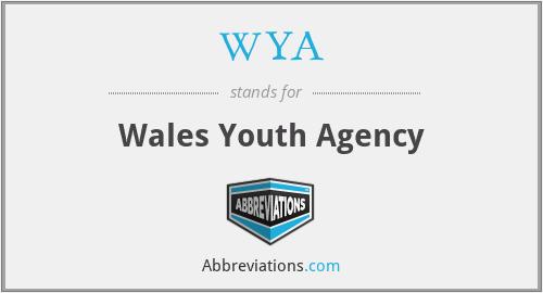 WYA - Wales Youth Agency