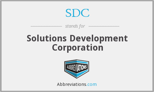 SDC - Solutions Development Corporation