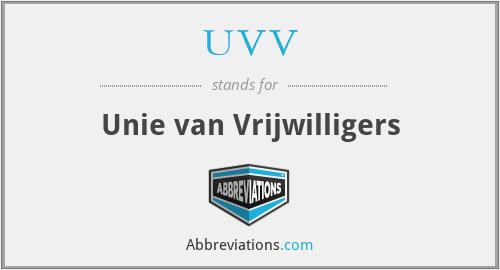 UVV - Unie van Vrijwilligers