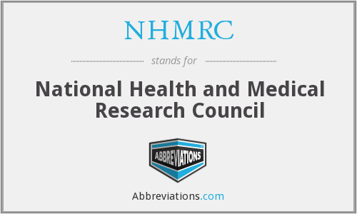 What does NHMRC stand for?