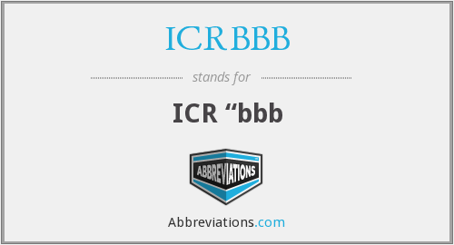 What does ICRBBB stand for?