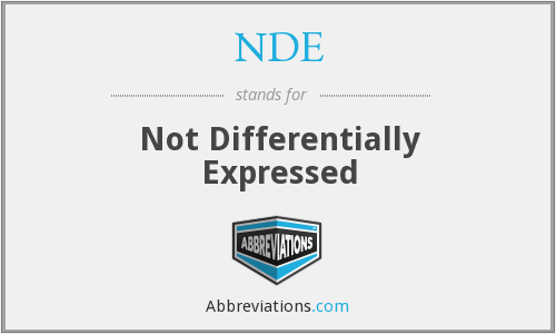 NDE - not differentially expressed