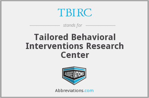 TBIRC - Tailored Behavioral Interventions Research Center