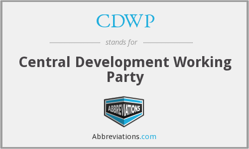 What does CDWP stand for?