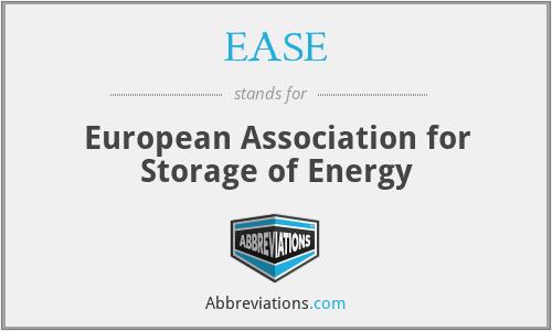 EASE - European Association for Storage of Energy