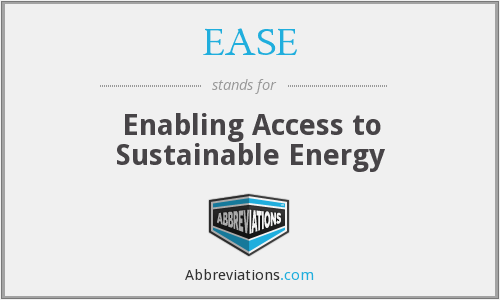 EASE - Enabling Access to Sustainable Energy