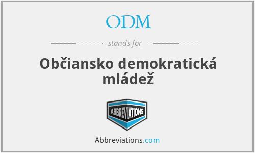ODM - Občiansko demokratická mládež